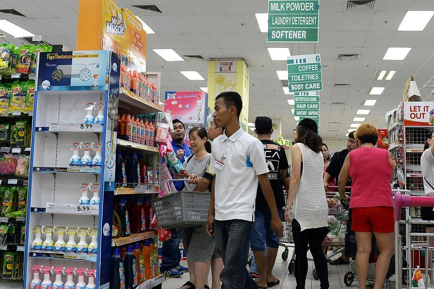 The supermarket inside Aeon Bukit Indah Shopping Centre in Johor Bahru on March 31, 2015. -- ST PHOTO: DESMOND FOO