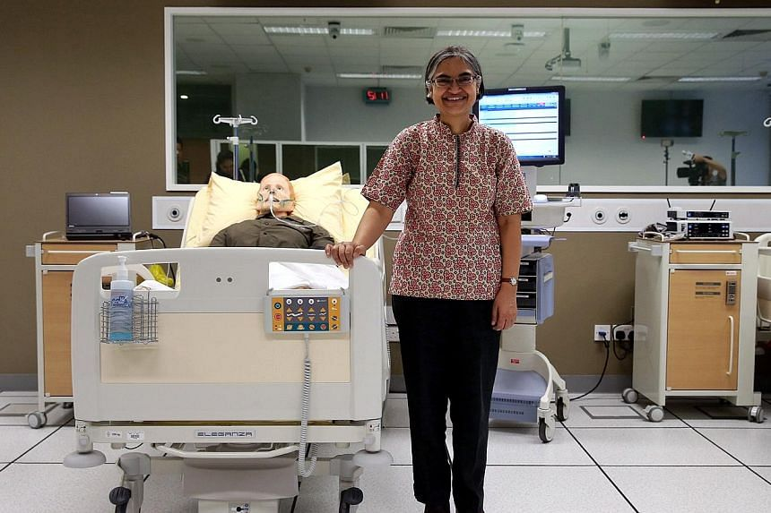 Dr Subadhra Devi Rai, senior lecturer at the School of Health Sciences (Nursing) at Nanyang Polytechnic has been named the recipient of the 2015 International Achievement Award by the ICN's Florence Nightingale International Foundation. -- ST PHOTO: