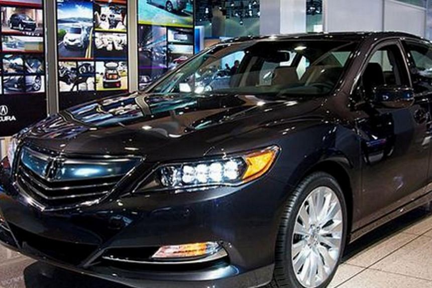 Honda is basing its self-driving prototype on its high-end Acura RLX. -- PHOTO: HONDA ACURA