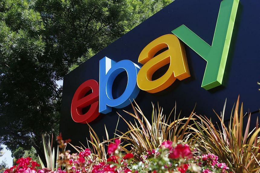 An eBay sign is seen at an office building in San Jose, California, in this file photo taken May 28, 2014. PHOTO: REUTERS
