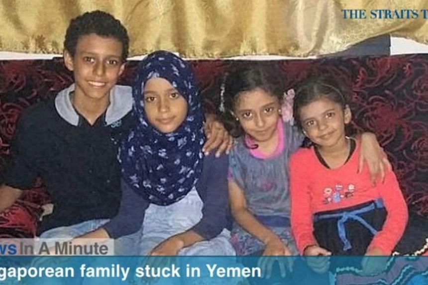In today's The Straits Times News In A Minute video, we look at aSingaporean woman and her four children seeking evacuation from Aden, Yemen, which is on the brink of civil war.-- SCREENGRAB FROM RAZORTV