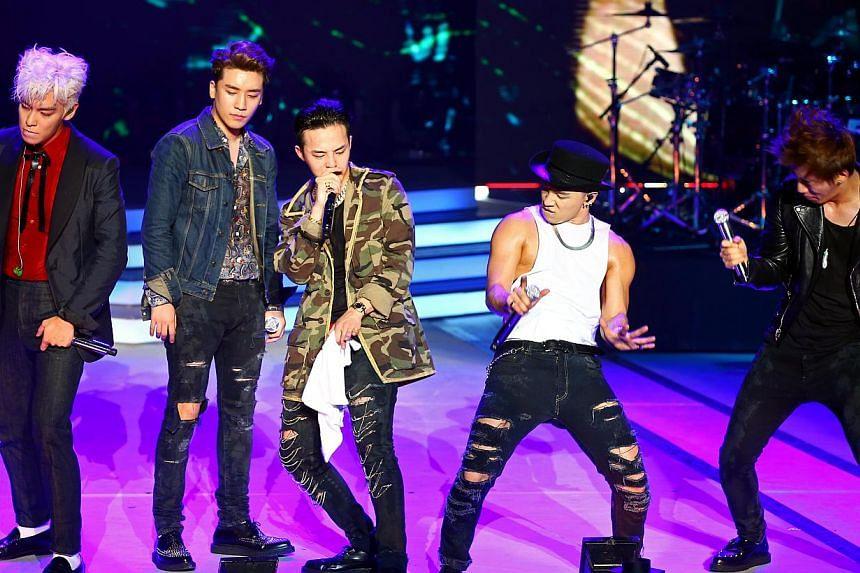 Korean boy band, Big Bang, (from left) T.O.P, Seungri, G-Dragon, Taeyang and Daesung. -- PHOTO: ST FILE