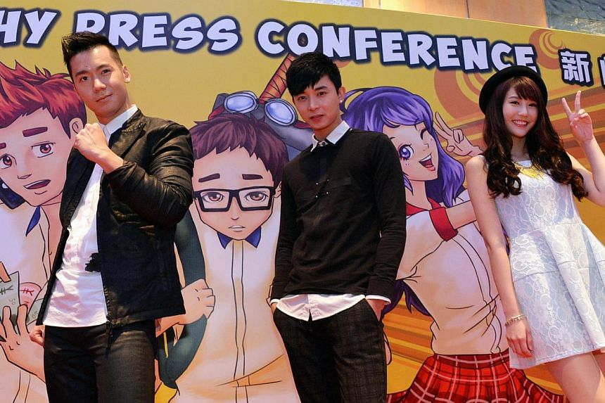 Young & Fabulous stars (from left) Joshua Tan, Aloysius Pang and Joyce Chu ascosplayers who overcome obstacles to fulfil their dreams. -- PHOTO: LIANHE ZAOBAO
