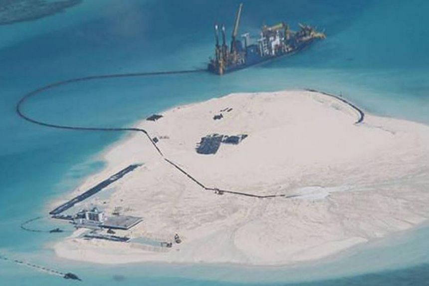 The Johnson South Reef, which is in contested waters in the South China Sea. It is high time for Asean to ramp up its efforts to implement the 2002 Declaration on the Conduct of Parties in the South China Sea and negotiate the final contours of a Cod