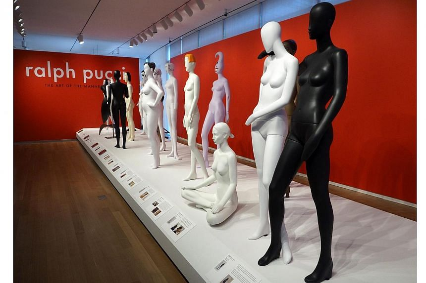 A view of a display of mannequins designed by Ralph Pucci at the Museum of Arts and Design in New York, USA on 30 March 2015. The exhibit, which runs until 30 August 2015, is a look at the career and influence of the New York-based Pucci who has prov