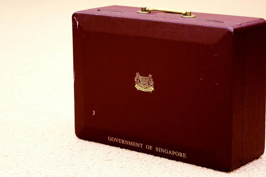 The red box in which founding prime minister Lee Kuan Yew kept his working documents was put on display at the National Museum of Singapore on Thursday. -- PHOTO: MCI