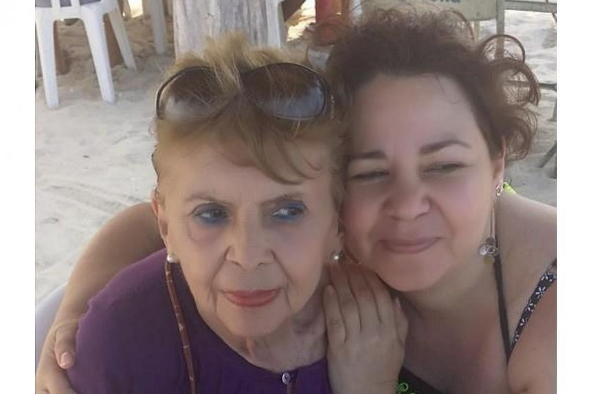 Ms Patricia Urrutia and her mother Ms Margarita Suarez, who died on March 15 at the age of 71. -- PHOTO: PATRICIA URRUTIA/ FACEBOOK