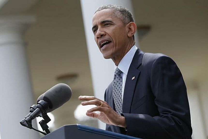 US President Barack Obama delivers remarks on the negotiations with Iran over their nuclear programme on April 2, 2015 in Washington, DC. While he cheered Thursday's nuclear deal, and told sceptical hardliners the diplomatic solution to the stan