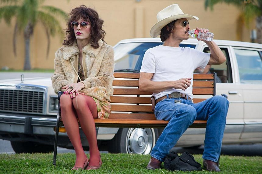 A cinema still from the movie Dallas Buyers Club starring Jared Leto (left) and Matthew McConaughey. -- PHOTO: SHAW