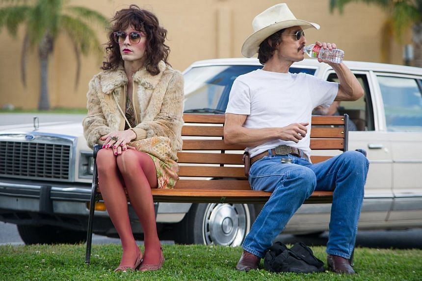 A scene from the movie Dallas Buyers Club starring Jared Leto (left) and Matthew McConaughey. Last month, people who allegedly downloaded the Oscar-winning film were served with letters asking for compensation.