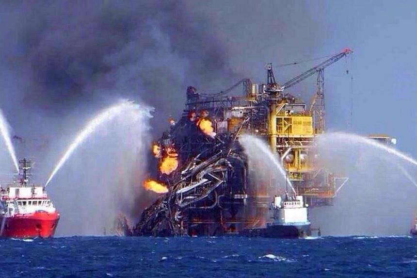 Fire erupted on an offshore oil platform operated by Mexico's Pemex on April 1, 2015, killing at least four workers and injuring 16. Mexico's state oil giant Pemex reported losses Thursday of more than 100 billion pesos (S$8.6 billion) in the first q