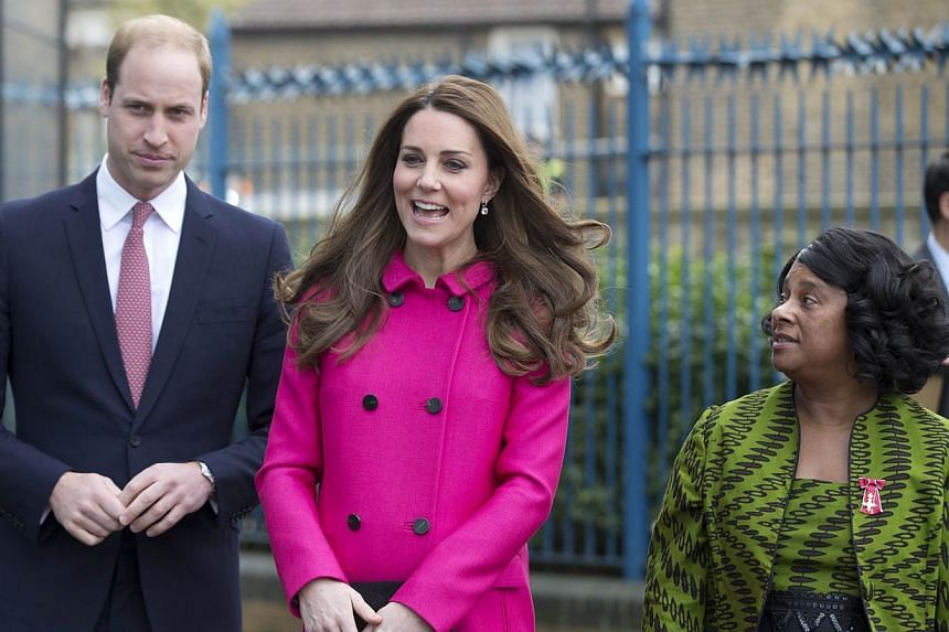 Britain's Catherine, Duchess of Cambridge, at the St Patrick's Day parade for the Irish Guards Regiment at Mons Barracks in Aldershot, near London, on March 17, 2015. -- PHOTO: AFP