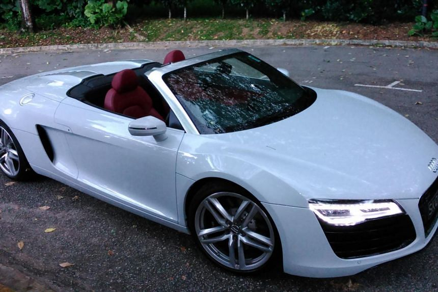 The Audi R8 Spyder 4.2 can get its top down in just 19 seconds. -- PHOTO: CHRISTOPHER TAN