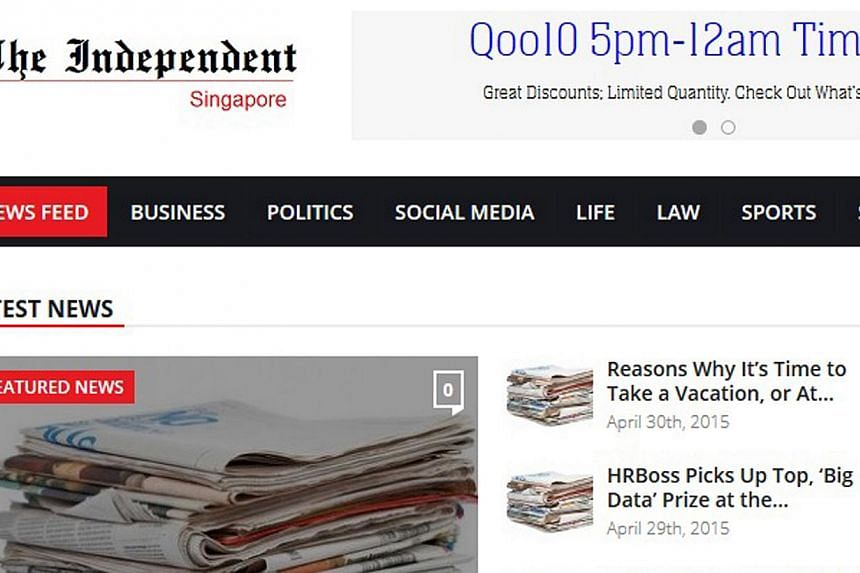 The Independent Singapore.