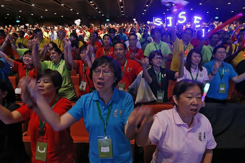 "More than 4,000 unionists, employers and government officials attended the May Day Rally yesterday at The Star Performing Arts Centre, where Prime Minister Lee Hsien Loong urged everyone to ""continue joining hands to achieve better lives for all Sing"