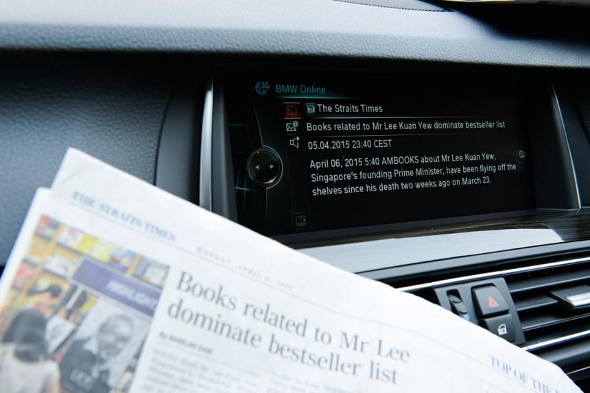 BMW's new service allows you tohave news articles read out to you. -- PHOTO: BMW ASIA