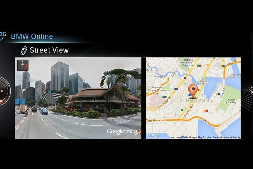 BMW's new service allows you to view scenes of your destination. -- PHOTO: BMW ASIA