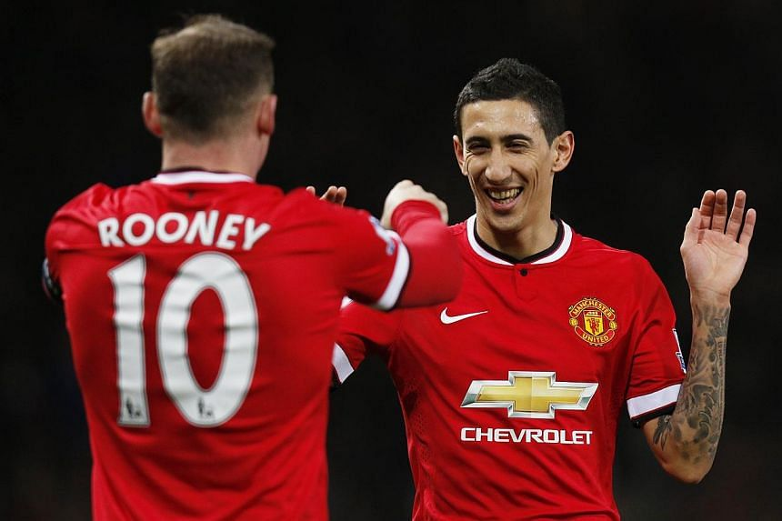 Louis van Gaal expects Angel di Maria (above right) to remain at Manchester United despite being disappointed by the British record signing's lacklustre first season in the Premier League. -- PHOTO: REUTERS
