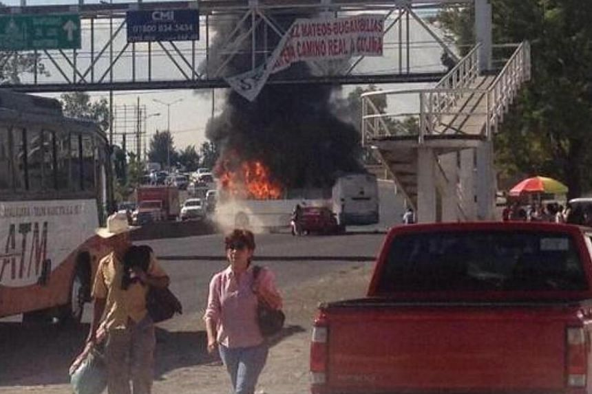 A photo of the unrest inGuadalajara posted on social media.More than a dozen vehicles were set on fire on Friday across Guadalajara, Mexico's second-biggest city, while a drug gang and authorities clashed in another part of Jalisco state.