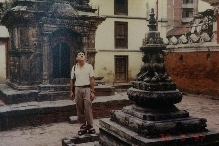 Dr Ng Wai Chong in Nepal in 1997, when he was on a medical mission to provide inoculations for children. He attends meditation retreats regularly, where he gains clarity of mind and becomes more empathetic.