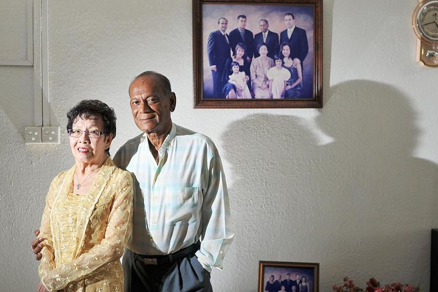 Madam Alice Wong, who married Mr Robert Bonar (both above). -- ST PHOTO: LIM YAOHUI FOR THE SUNDAY TIMES
