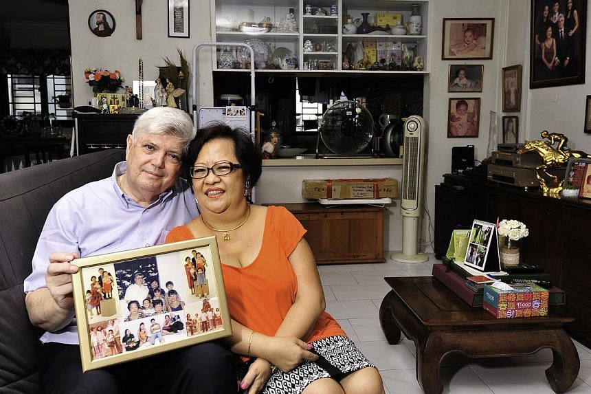 Mr Anthony and Mrs Estrellita Twohill faced no objections from their families when they got married. -- PHOTO: DIOS VINCOY JR FOR THE SUNDAY TIMES