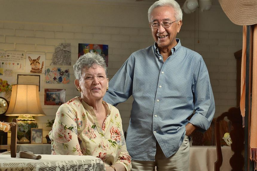 The Choos met in Sydney and have been married for 40 years. -- ST PHOTO: DESMOND WEE