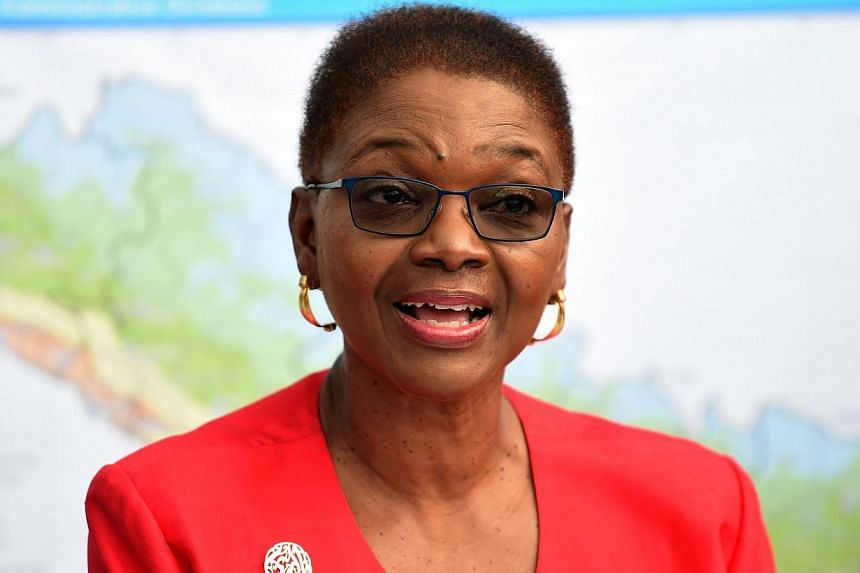 The UN's head of humanitarian affairs Valerie Amos said she was worried the foreign aid pouring into Nepal in the wake of the impoverished country's deadliest earthquake in more than 80 years was being held up by red tape. -- PHOTO: AFP