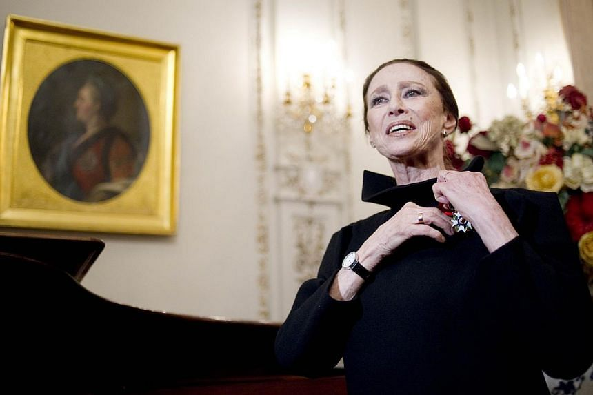 Maya Plisetskaya (above, in a 2012 file photo) - considered one of the greatest ballerinas of the 20th century for performances that flouted Soviet convention - died on Saturday at the age of 89. -- PHOTO: AFP
