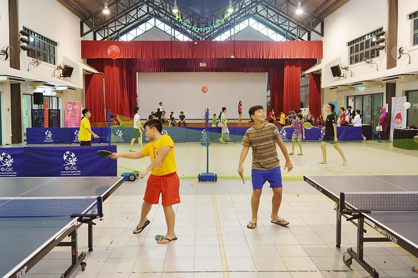The multipurpose hall used for games at the new Tampines West CC. -- ST PHOTO: ALPHONSUS CHERN