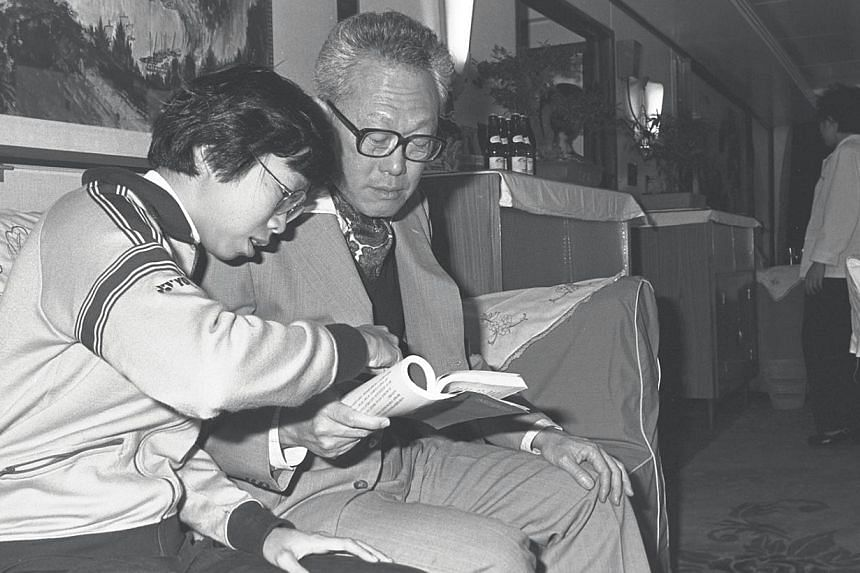 Prime Minister Lee Kuan Yew and daughter Wei Ling on board a boat travelling along the Three Gorges of Changjiang River in 1980. Mr Lee was in China for a two-week visit, during which he will hold talks with Chinese leaders. -- PHOTO: ST FILE