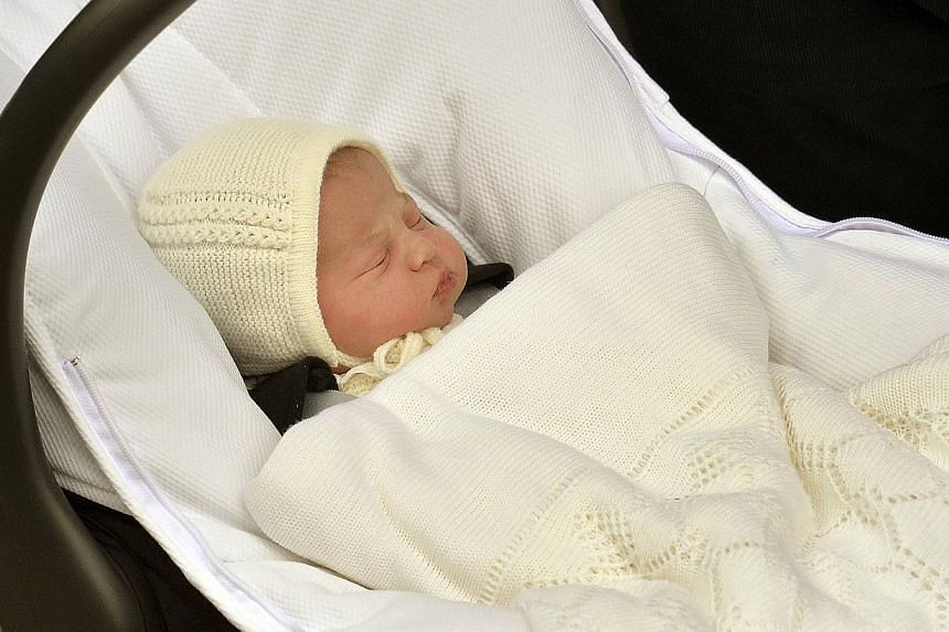 The name of Britain's new princess, born to Prince William and his wife Catherine, could be announced on Monday. -- PHOTO: REUTERS