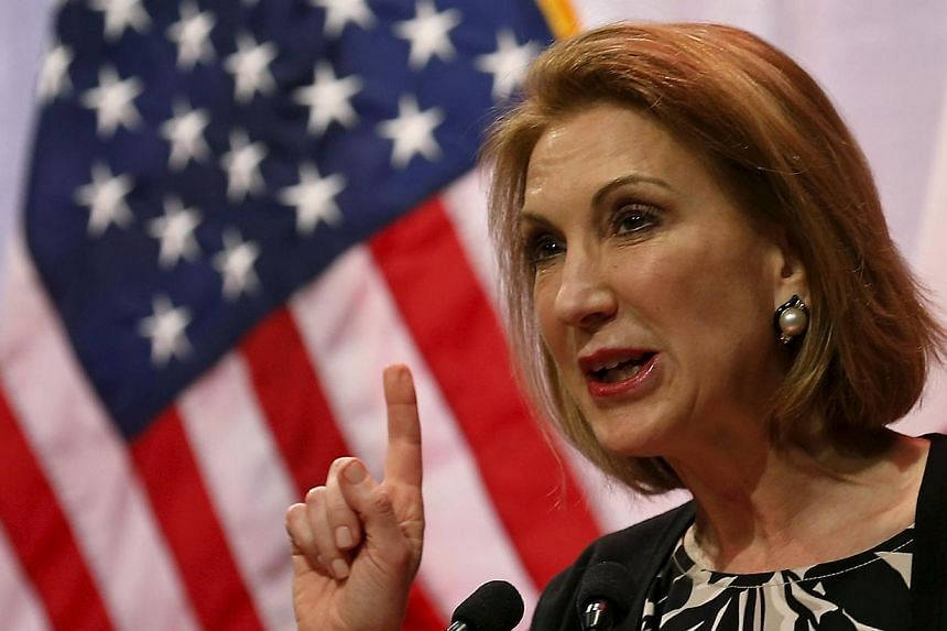 Potential Republican presidential candidate former Hewlett-Packard CEO Carly Fiorina speaks at the Iowa Faith and Freedom Coalition's forum in Waukee, Iowa on April 25, 2015.Fiorina is the only woman in the pack of Republican candidates for the
