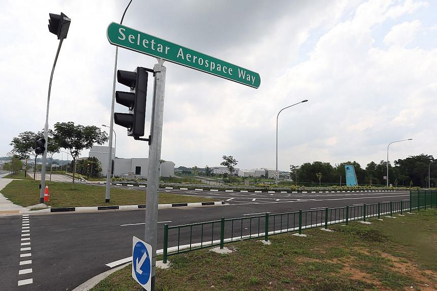 Seletar Aerospace Flyover and an adjoining set of new roads have been completed and will open on May 16 at 5am. -- ST PHOTO: NEO XIAOBIN