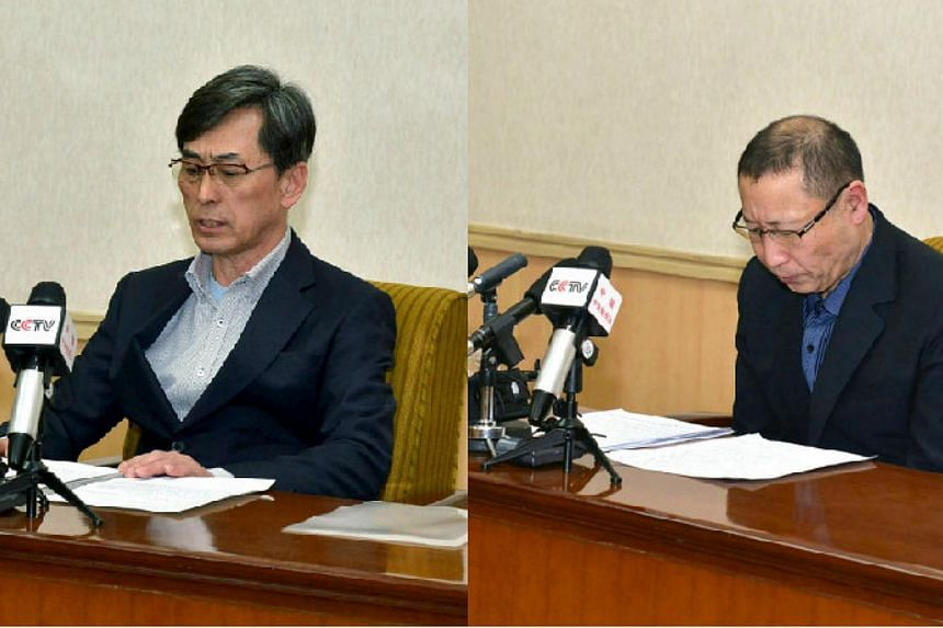 Two South Koreans awaiting trial in North Korea on espionage charges have admitted to spying for Seoul in interviews with CNN in Pyongyang conducted in the presence of North Korean minders. -- PHOTOS: REUTERS