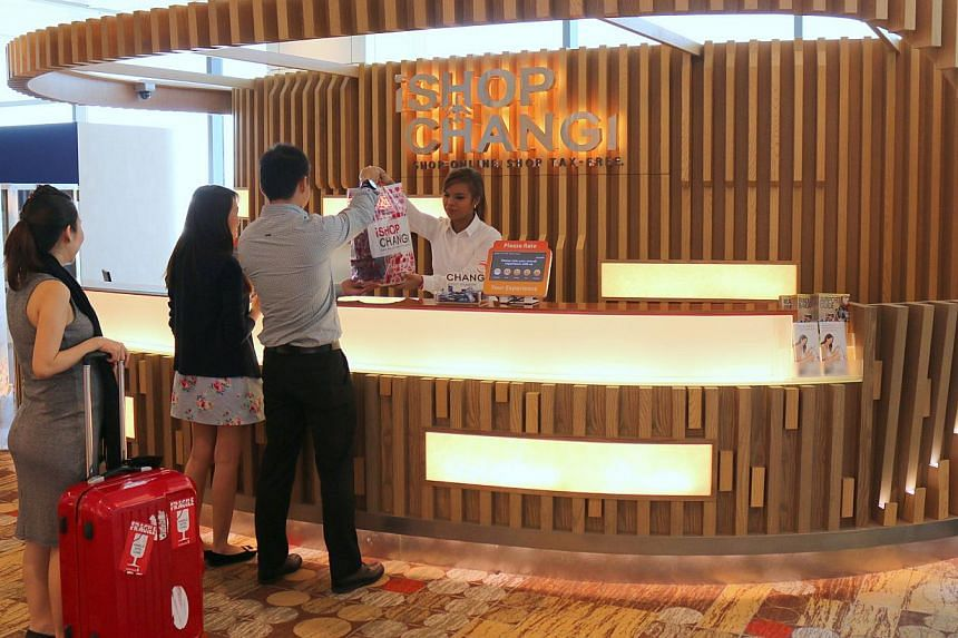 Travellers can pay online at iShopChangi and pick up their purchases at designated counters. Since the portal's launch in 2013, online sales and website traffic are up by 40 per cent.