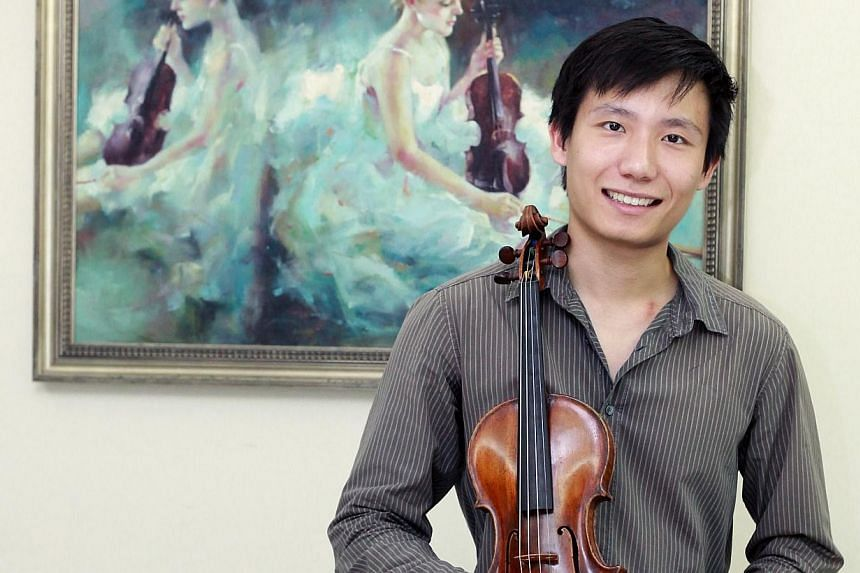 Loh Jun Hong, one of Singapore's top violinists, stays on a