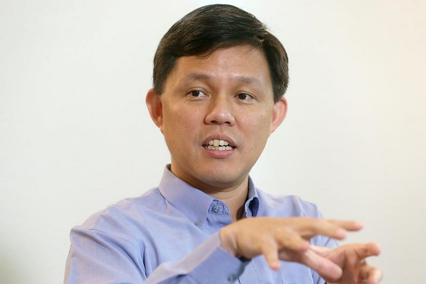 Incoming NTUC secretary-general Chan Chun Sing during a media session with journalists on April 29, 2015 at NTUC Centre. He spoke on his views about his role in the Labour Movement and on other worker-related issues. -- ST PHOTO: SEAH KWANG PENG&nbsp
