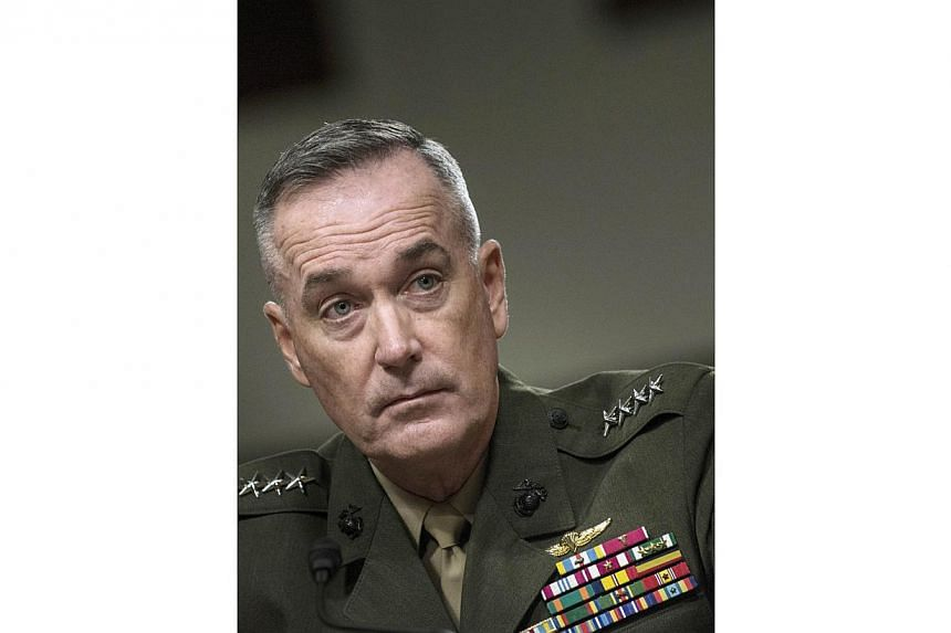A 2012 photo shows US Marine General Joseph Dunford during a confirmation hearing of the Senate Armed Service Committee on Capitol Hill in Washington, DC. President Barack Obama on Tuesday will nominate Gen Dunford as the next chairman of the Joint C