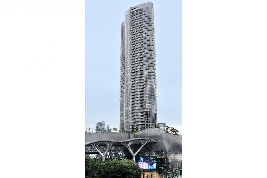 The Orchard Residences, a prime luxury condominium projects located in the distinctively unique lifestyle precinct of Orchard Road. -- PHOTO: ST FILE