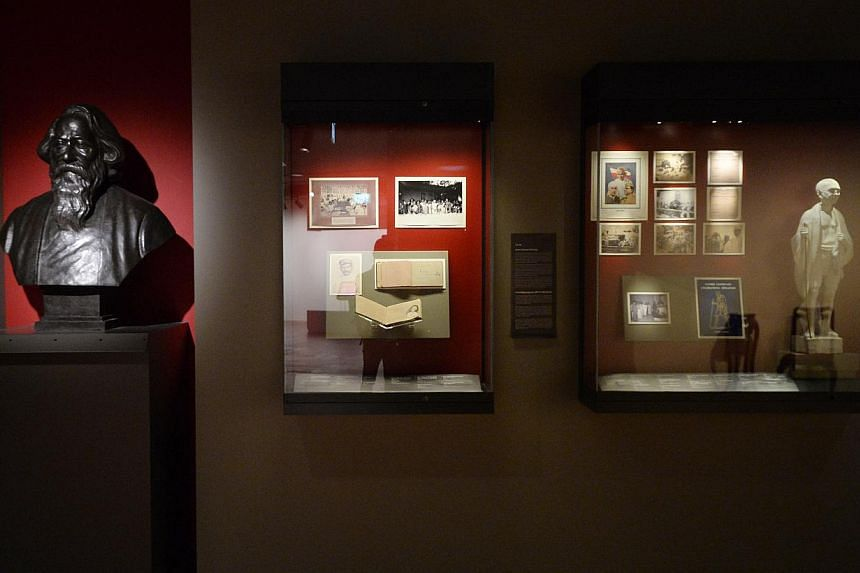 ARTEFACTS ON SHOW: The Social and Political Awakening of Indians in Singapore and Malaya gallery at the Indian Heritage Centre (IHC) during a preview on April 22, 2015. -- ST PHOTO: MARK CHEONG