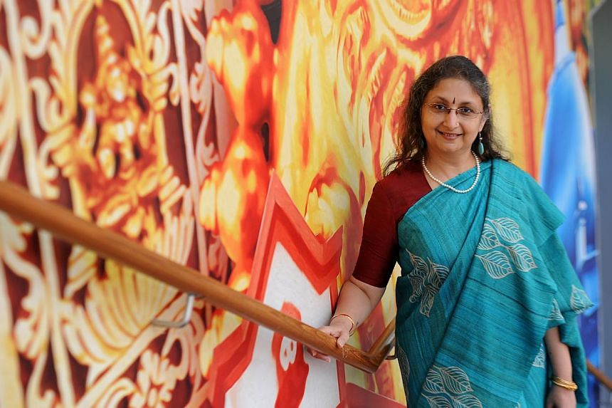 Centre director Gauri Krishnan (above) says cultural traditions and popular culture will be featured at the CultureFest. -- ST PHOTO: TIFFANY GOH