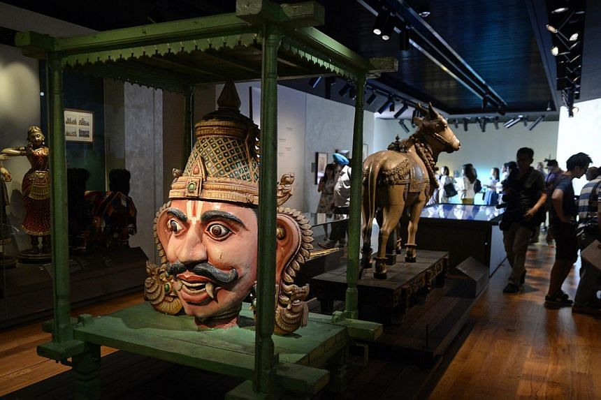 Among the five galleries at the new Indian Heritage Centre is Roots And Routes: Origins And Migration (above). -- ST PHOTO: MARK CHEONG