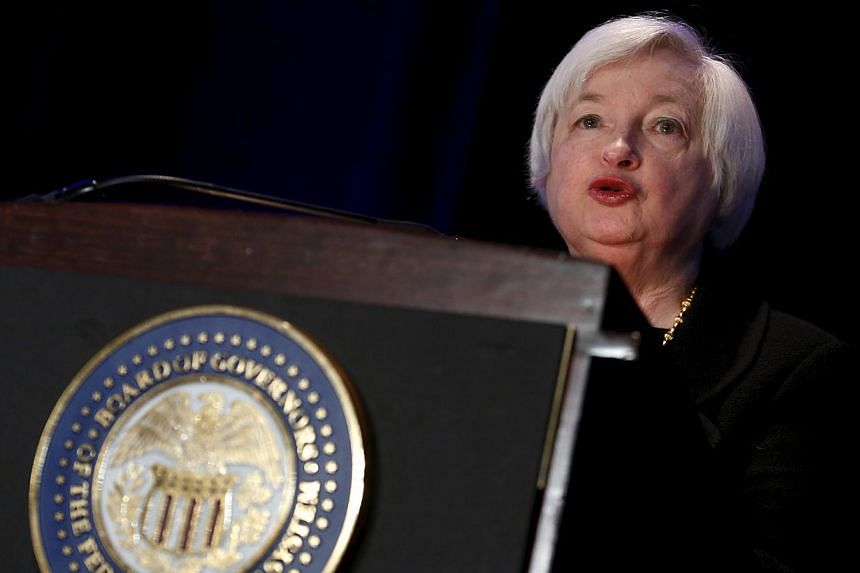 Federal Reserve Chair Janet Yellen delivers remarks at the Federal Reserve's ninth biennial Community Development Research Conference focusing on economic mobility in Washington on April 2, 2015. Yellen met with a research firm that later published c