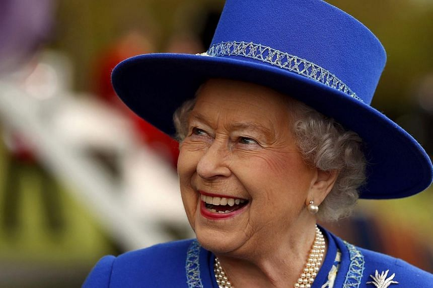 Britain's Queen Elizabeth II after presenting New Colours to the 1st Battalion Welsh Guards in the Quadrangle at Windsor Castle on April 30, 2015. -- PHOTO: AFP