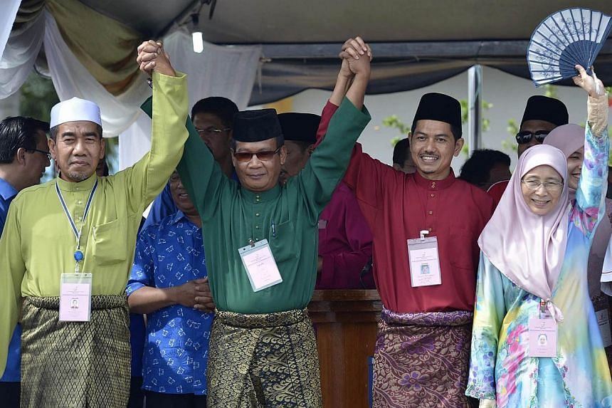 The Permatang Pauh by-election on May 7 will be a four cornered fight among (from left) independent candidate Salleh Ishak, Parti Rakyat Malaysia's (PRM) Azman Shah Othman, Barisan Nasional's (BN) Suhaimi Sabudin and Parti Keadilan Rakyat's (PK