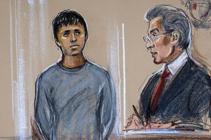 An artist courtroom sketch shows Navinder Singh Sarao (left), 36,as he stands in the dock during his second appearance at Westminster magistrates court, in London, UK, on Wednesday, April 29, 2015. Sarao, who is fighting extradition to the US o