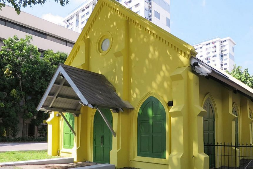 The green and yellow 8,000 sq ft building in Middle Road will be the new home for photography and film centre Objectifs. -- PHOTO: OBJECTIFS