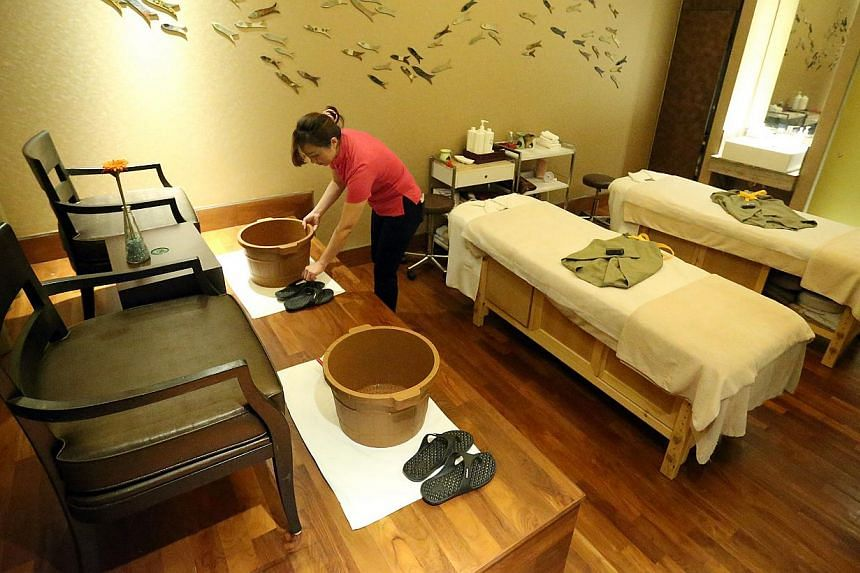A suite for couples at the Chinois Spa, one of the first to sign up with EZ-Link for the Trust programme. Should a spa operator go bust, EZ-Link will return the unutilised funds to prepaid package customers.