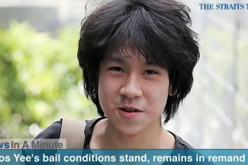 Teenage blogger Amos Yee will remain in remand after he refused the prosecution's offer to change his bail conditions if he agreed to see a psychiatrist. It was revealed in court that he had seen a psychiatrist twice last month but had stopped going.